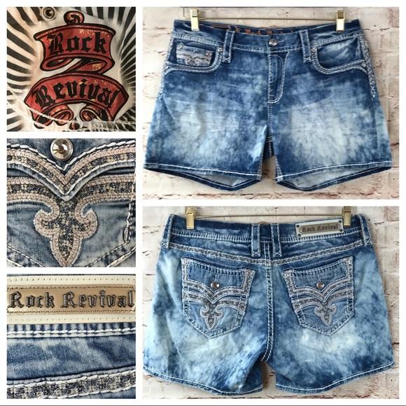 Rock Revival Pants - Rock Revival Hanaya embellished Distressed shorts